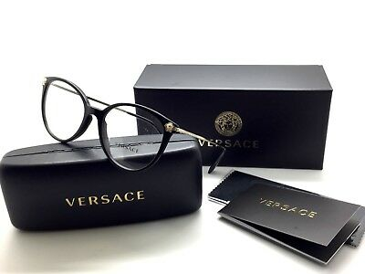VERSACE BLACK & Crystals 3251-B-A GB1 EYEGLASSES 54mm 18mm 140mm