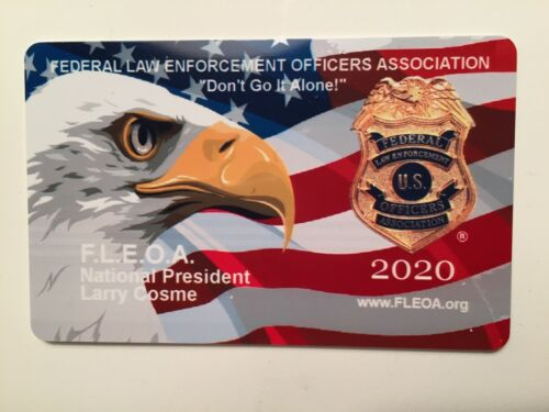 2020 Federal Law Enforcement Officers - Courtesy Card - FBI
