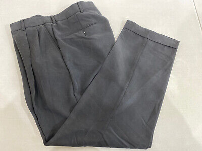 Nautica Men's Solid Navy Blue Khaki Pants 33X29 $78