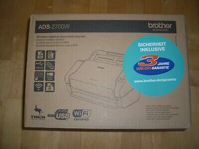 Brother ADS-2700W Dokumentenscanner A4, 600x600 dpi, Duplex, USB, Netzwerk, Wlan