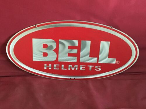 BELL HELMETS METAL DOUBLE SIDED HANGING DEALERSHIP SIGN
