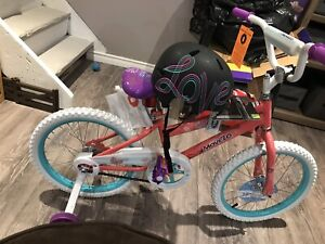 Brand new bicycle and helmet