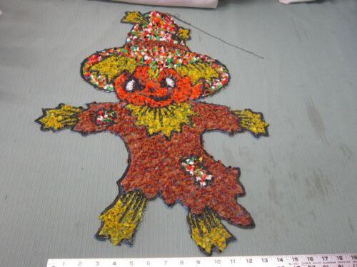 Vintage Melted Popcorn Plastic Decor Scarecrow Halloween Fall Autumn Pumpkin