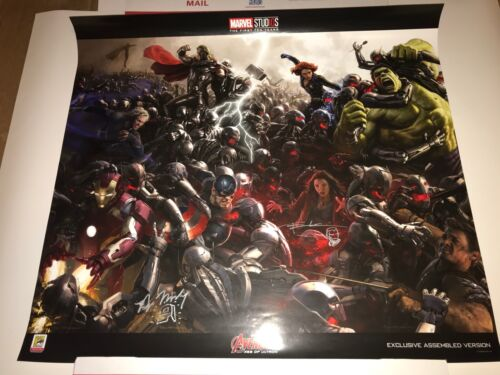 SDCC COMICCON SIGNED RYAN MEINERDING & ANDY PARK AVENGERS AGE OF ULTRON POSTER!