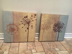 Two canvas art pieces
