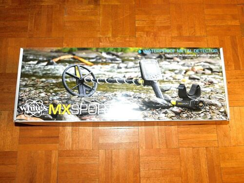 """Whites MX Sport Waterproof Metal Detector with 10"""" DD Coil - Complete set up"""