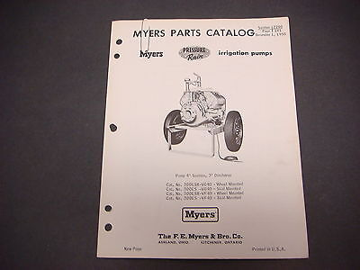 F.e. Myers Pump Co.parts Catalog1958 Pressure Rain Irrigation Pumps M4269