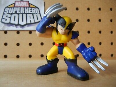 Marvel Super Hero Squad WOLVERINE Yellow & Blue Costume w/ Claws Forward X-Men](Super Hero Costumes For Men)