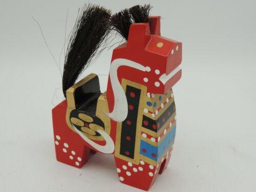 Japan Yawata-Uma Wood Horse Hand Painted Kokeshi Folk Art