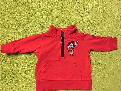 Baby Pulli Sweat-Shirt von C&A Disney. Mickey Mouse. Gr 62. Rot. Baumwolle. gebraucht kaufen  Toppenstedt