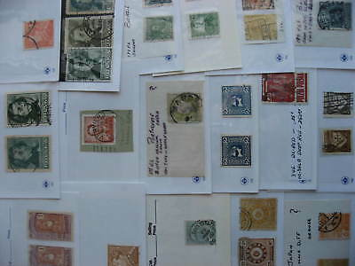 Worldwide, 19 stamps the collector believed are color varieties. Mixed condition
