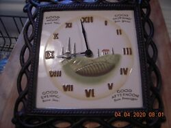 Ceramic & Wrought Iron Italy Wall Clock. Italian/English Greetings