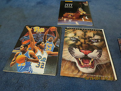 3  Vintage Pitt Panther Basketball Media Guides 1987 88 1988 89 1889 90
