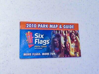 2010 Six Flags Fiesta Texas Park Map