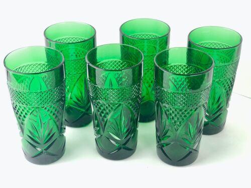 Luminarc Arcoroc France Glasses Emerald Green Vintage  6