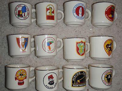 Boy Scout Mug 12 Old Regions Set