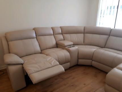 near new leather lounge plush