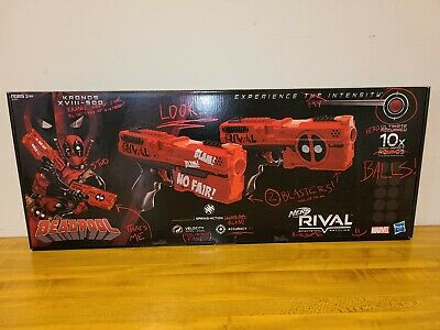 DEADPOOL KRONOS XVIII-500 Nerf RIVAL PRECISION BATTLING Gun Set--New in Box