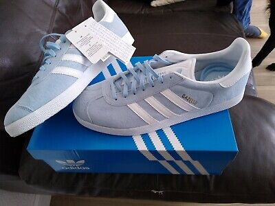 ADIDAS GAZELLE MENS CLEAR SKY/WHITE SUEDE BABY BLUE deadstock sizes BNWT RRP £75