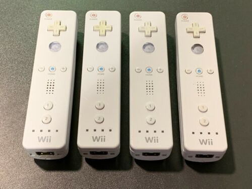Lot of 4, 2, 1 OEM Nintendo Wii Remote WiiMote Original Official Controllers