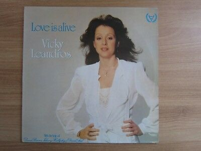 VICKY LEANDROS JOHNNY HALLYDAY LOVE IS ALIVE RARE 1981 Korea Orig LP