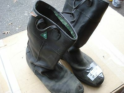 Kaufman Leather Firefighter Bunker Boots 9.5 ..l136