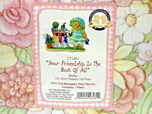 """Cherished Teddies 2012 Blythe """"Your Friendship Is The Best Of All""""  CT1201 NIB"""