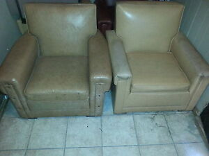 Vinyl Upholstered Lounge Chairs