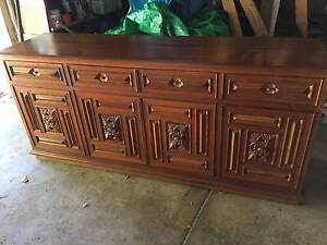 LOVELY SOLID TIMBER SIDEBOARD - CARVED DOORS - 4 DRAWER/4 DOOR Pymble Ku-ring-gai Area Preview