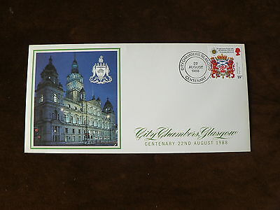 1988 Commemorative Cover: City Chambers, Glasgow, Centenary