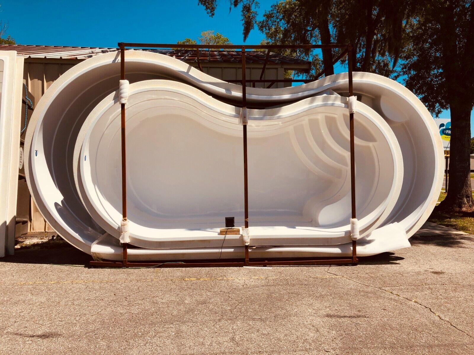 Fiberglass Inground Swimming pool shell Curve 10