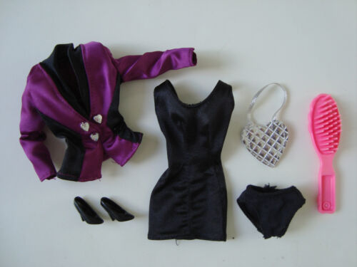 Barbie Clothes/Fashions Sexy Black Dress With Accessories NEW!!