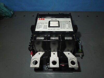Abb Contactor Eh 145 Eh145c-yl11 212-230a 125hp Max 600v 3p W 24v Dc Coil Used