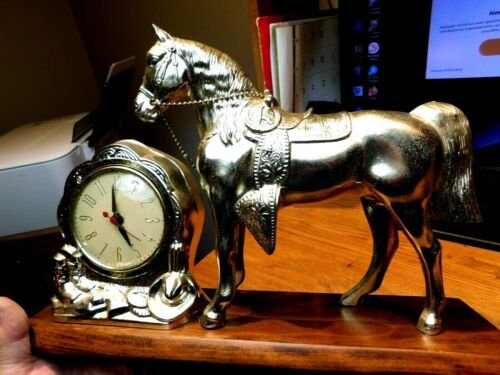 GIBRALTAR USA HORSE MANTLE CLOCK 1950