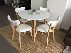 Designer table and 4 chairs Hornsby Hornsby Area Preview