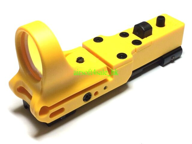 C MORE Style Reflax Red Dot Sight for 20mm Rail Airsoft IPSC Hi-Capa (Yellow)