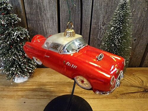 Rare! ~ 1956 Ford Thunderbird ~ Glass Ornament ~ Official Licensed Product