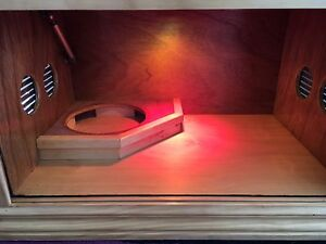 CUSTOM HAND BUILT REPTILE ENCLOSURE w HEAT LAMP - NEVER USED Vaucluse Eastern Suburbs Preview