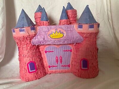 Princess Castle Pinata, Pink, 14-1/4-Inch