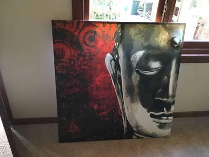 Buddha painting printed on canvas 110cm x 110cm