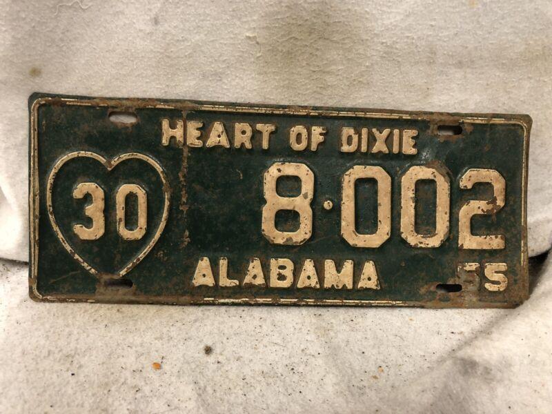 Vintage 1955 Alabama License Plate