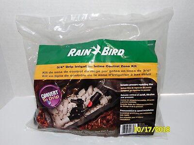 "RAIN BIRD 3/4"" Drip Irrigation Inline Control Valve Zone Kit CPZ075PRFI"