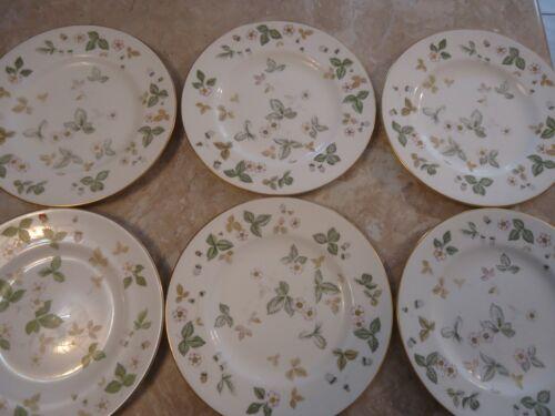 """Set of 6 Wedgwood Wild Strawberry 8"""" Salad Plates"""