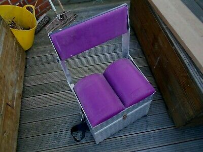 ALUMINIUM FISHING SEAT BOX WITH FOLDING SEAT AND 3 DRAWS
