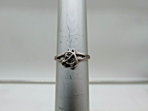 Vintage Sterling Silver Horse Design Band Style Ring Size 6 #546