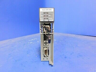 Allen Bradley 1747-l542 504 Ver B Rev 3 Slc 500 Cpu Module With Dh And Rs232