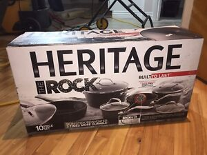 !NEUF! Batterie de cuisine The Rock Heritage