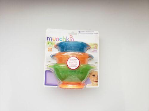 Munchkin Stay Put Suction Bowls - Set of 3, NEW