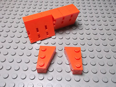 part nos 6564 & 6565 Wedge 3 x 2 Right & Left in Blue 2x Pairs Lego