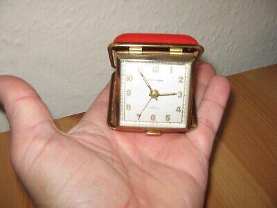 "Vintage ""Estyma"" Miniature Travel Alarm Clock - 1950s / 60s - German Made."
